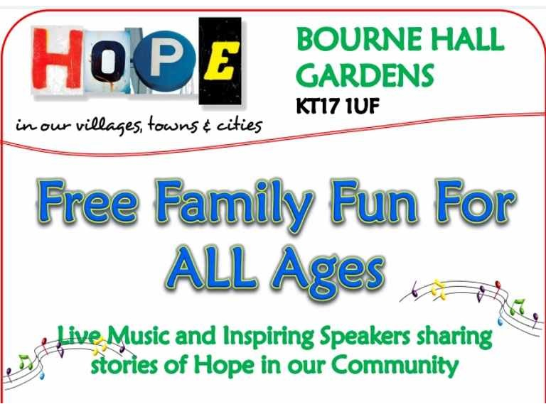 CANCELLED HOPE - Family Fun Day with Churches Together Ewell #ChurchesTogether