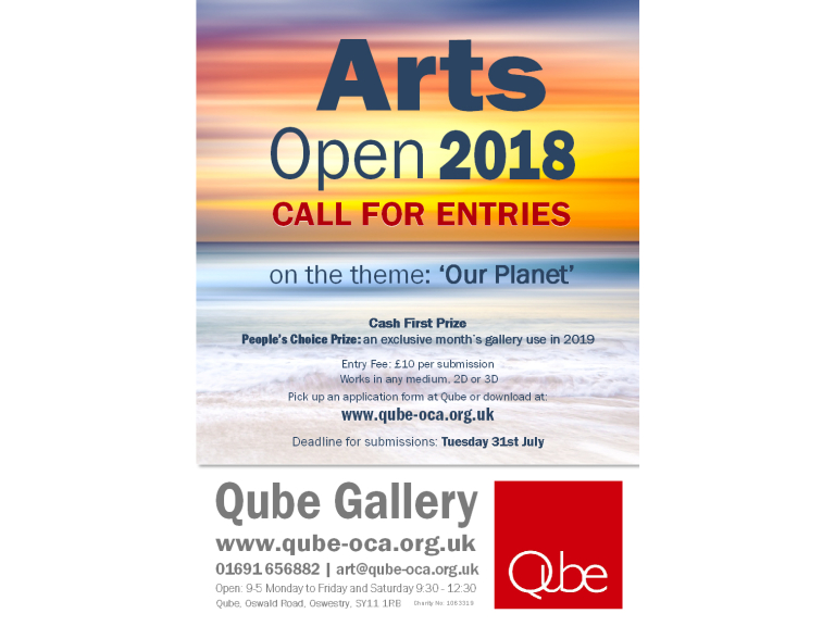 Call for artists! Qube Arts Open 2018