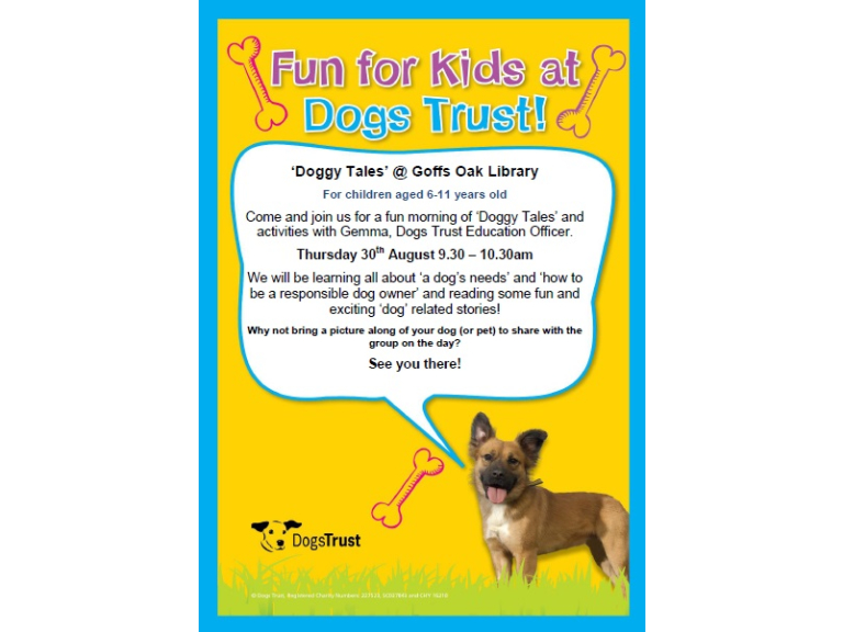 Fun for Kids at Dogs Trust - Goffs Oak Library