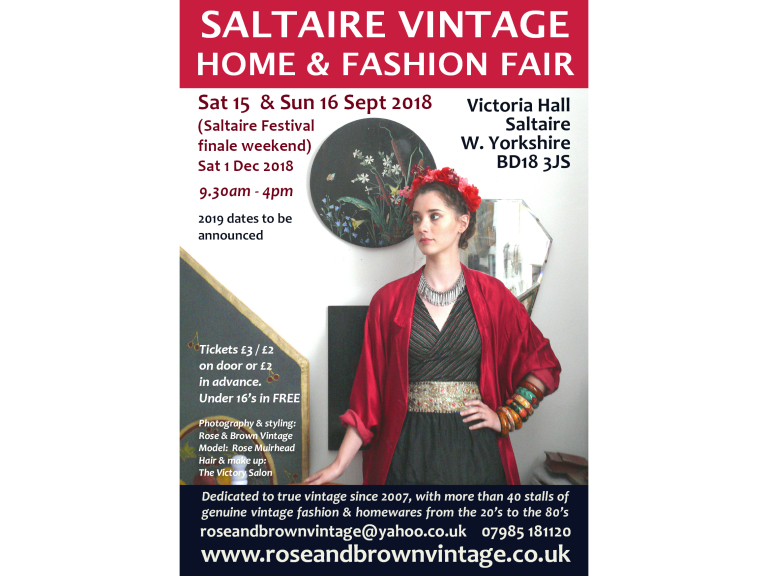 Saltaire Vintage Home & Fashion Fair  [Two-Day event during Saltaire Festival]