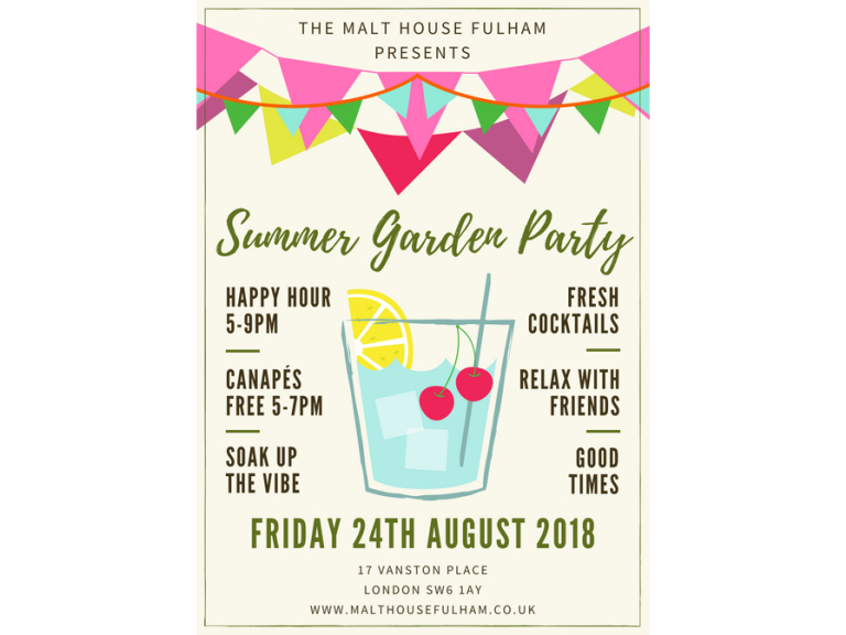 The Malt House - Summer Garden Party - Friday 24th August