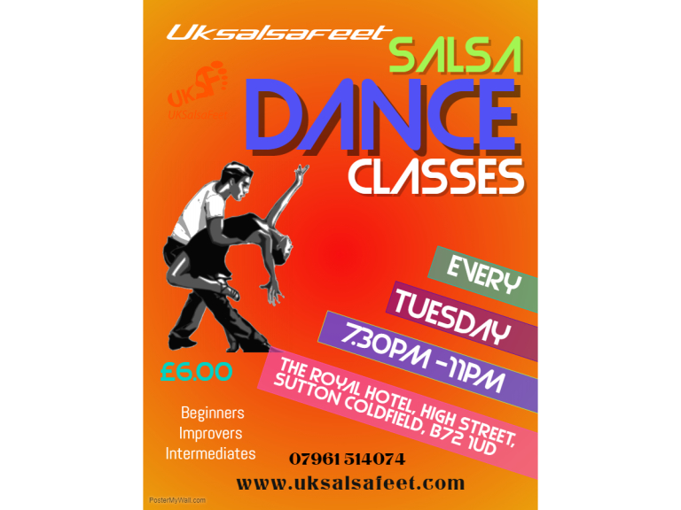 Sutton Coldfield Tuesday Salsa Classes for Beginners