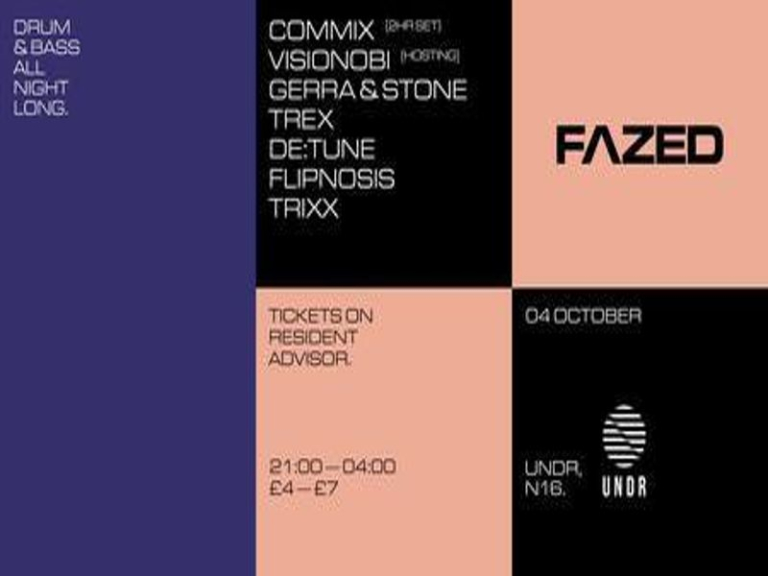 Fazed at UNDR w/ Commix, Visionobi, Gerra and Stone, Trex