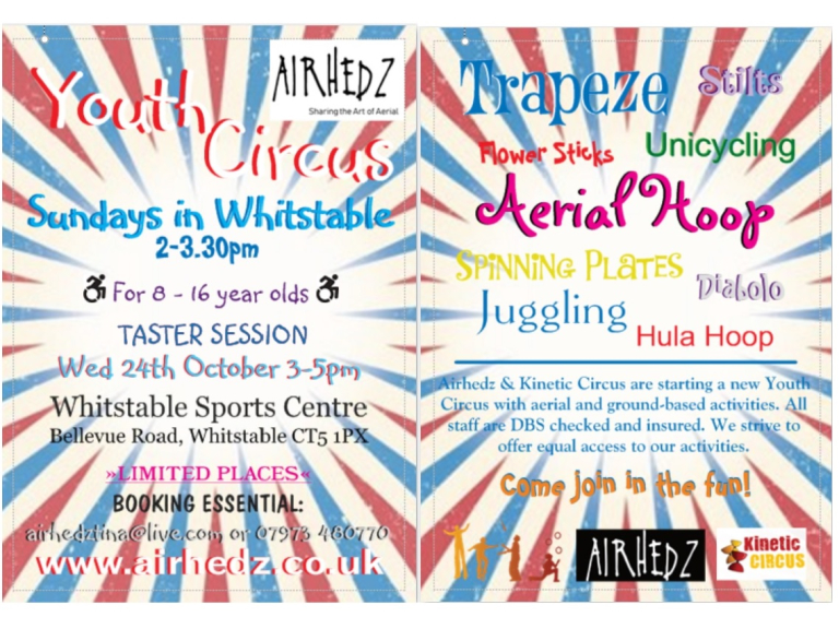 Airhedz Youth Circus - Starting in October