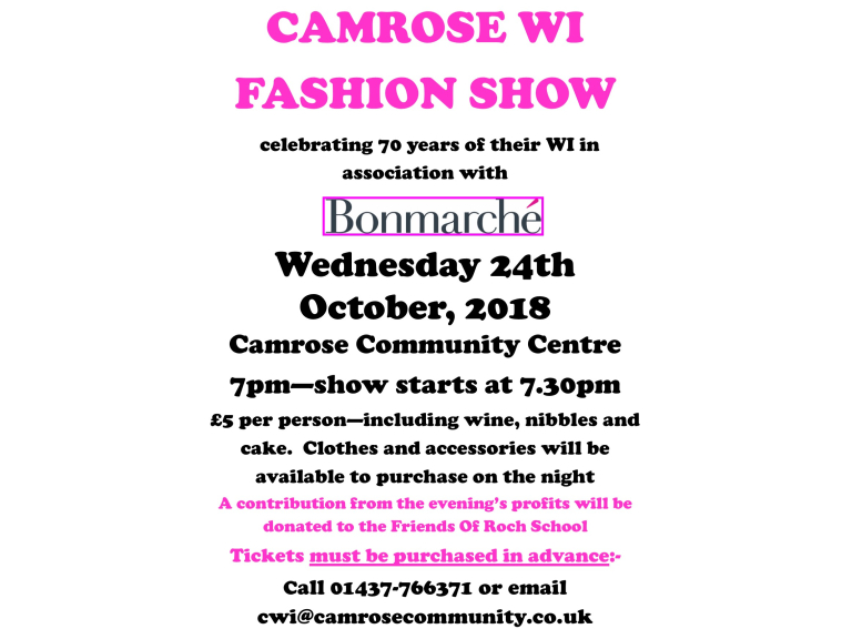 Camrose WI Fashion Show With Bon Marche