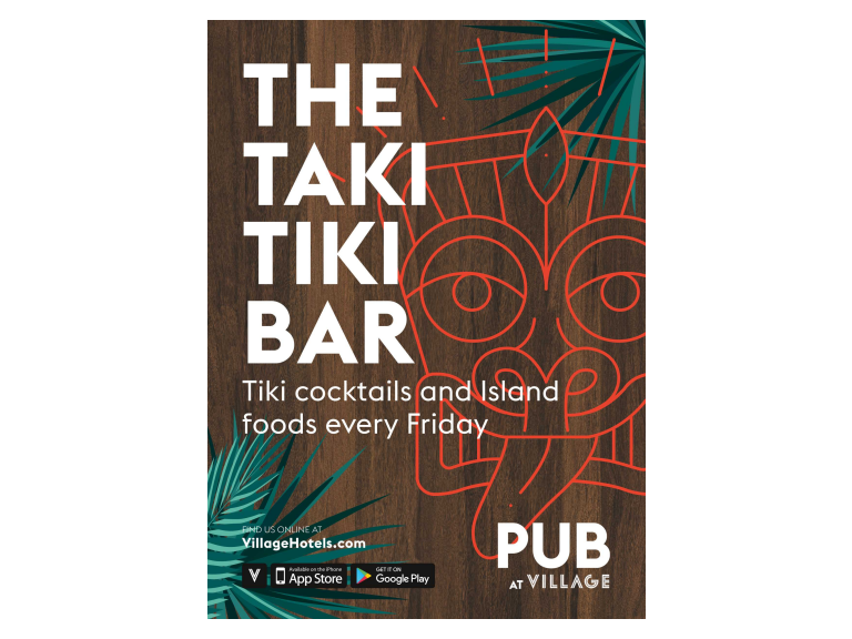 Taki Tiki Bar - Happy Hour every Friday at the Village!