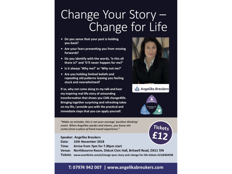 Change you Story and Change for Life - Talk