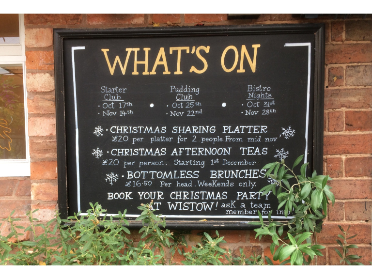 See What's Happening At Wistow Cafe Bistro!