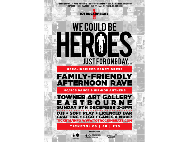 TotRockinBeats | We Could Be Heroes | Family Rave - Eastbourne