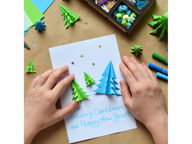 Christmas Card Making with Santa and Kendrick