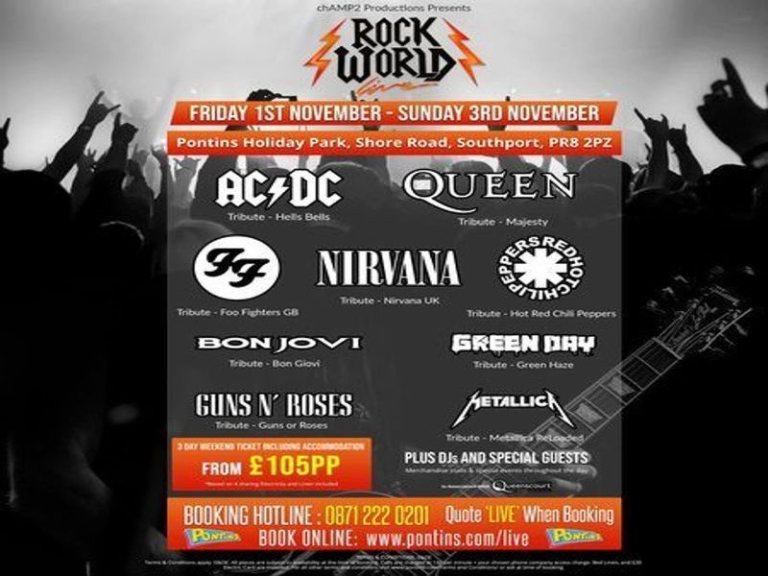 Rock World Live - The Ultimate Rock Weekender, 1st-3rd November 2019
