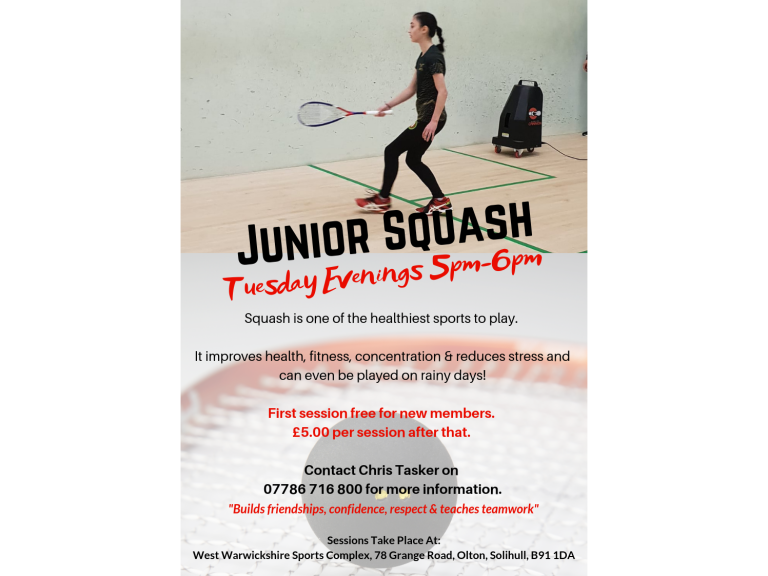 Junior Squash Tuesdays