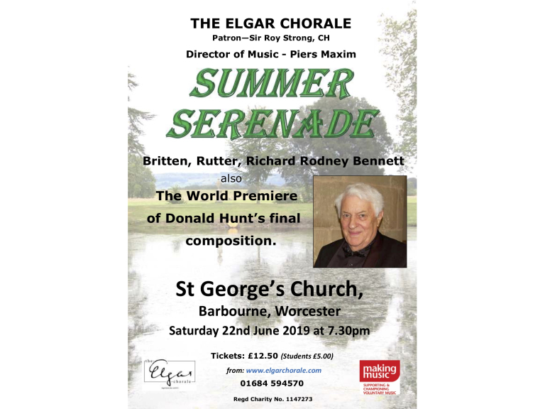 Summer Serenade with the Elgar Chorale of Worcester