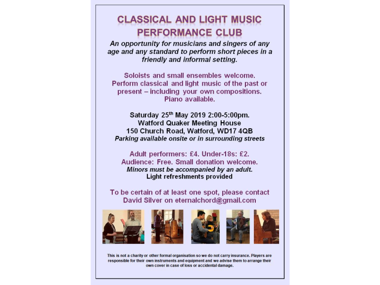 Classical and Light Music Performance Club