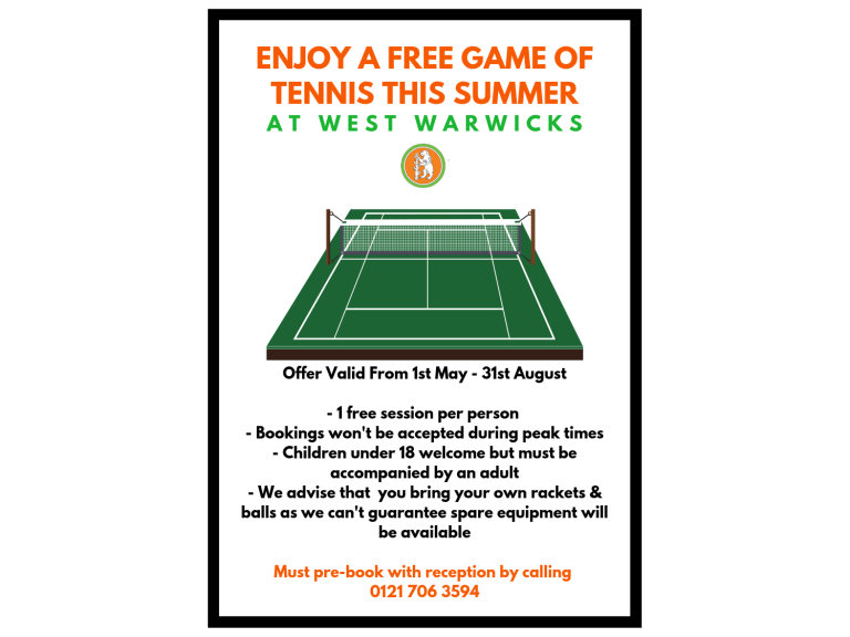 Free Tennis - This Summer!