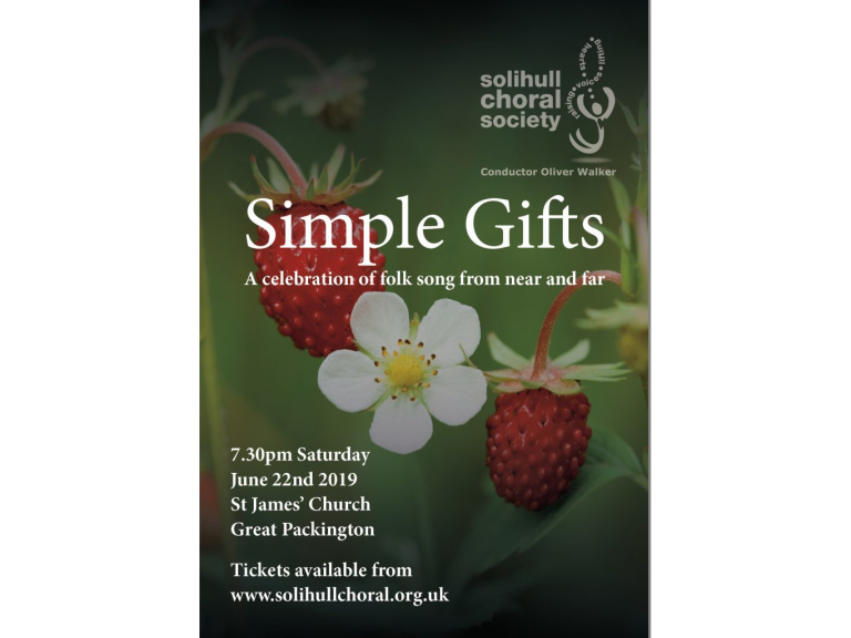 SIMPLE GIFTS - Solihull Choral Society summer concert