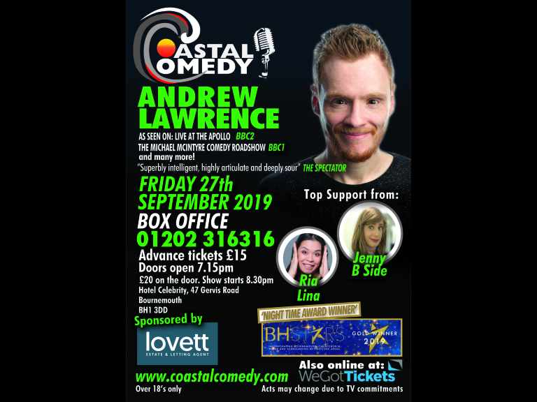 The Coastal Comedy show with TV headliner Andrew Lawrence!