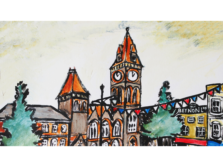 Workshop - Painting Historic Newbury…. In the Style of LS Lowry - Newbury Market Place