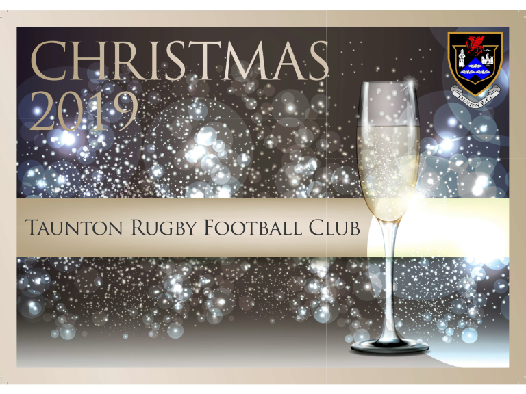 Taunton Rugby Football Club Christmas 2019