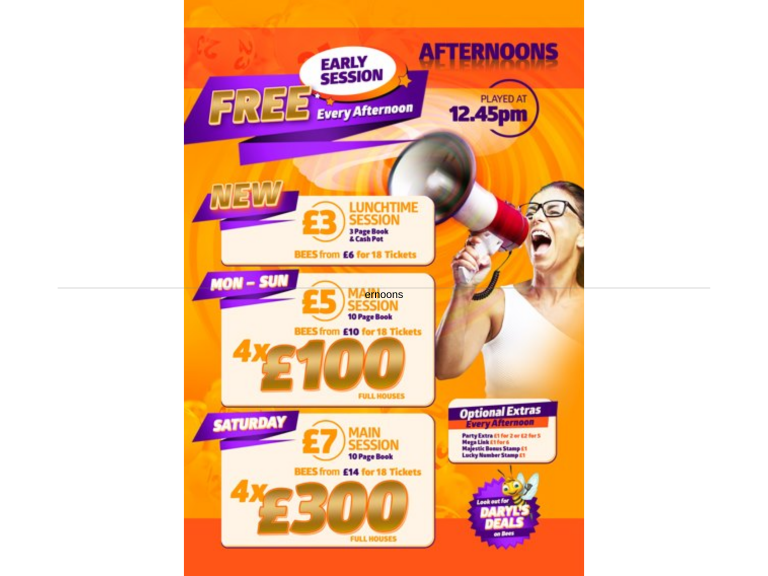 £5 Afternoon Main Session at Apollo Bingo