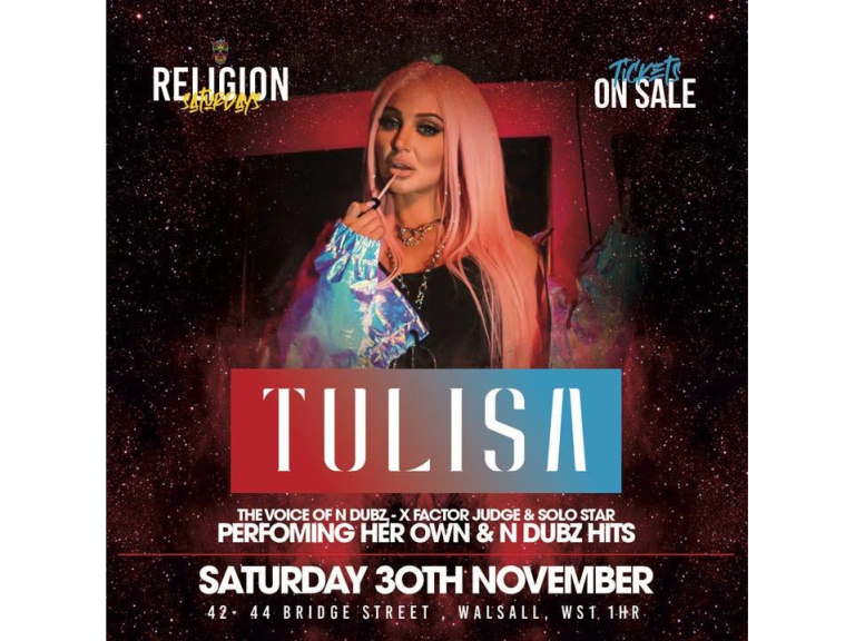 Tulisa LIVE at Religion Nightclub