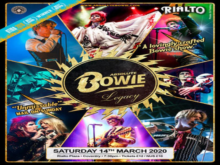 Absolute Bowie at Rialto Plaza, Coventry on Saturday 14th March 2020