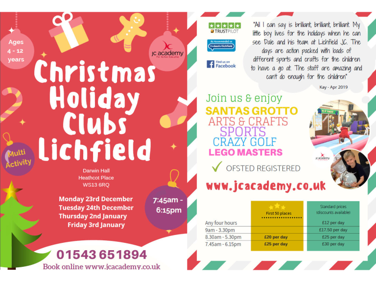 JC Academy's Christmas Children's Holiday Club
