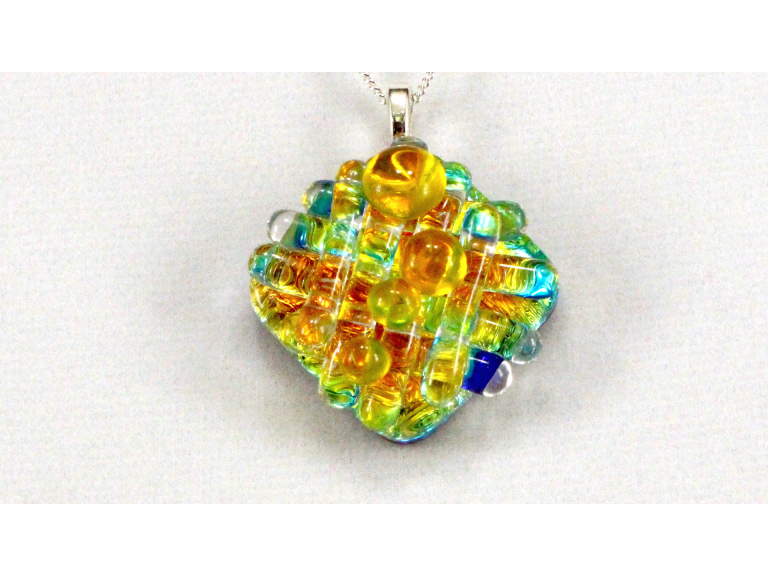 Adult Workshop - Dichroic Glass Pendant and Earrings Set
