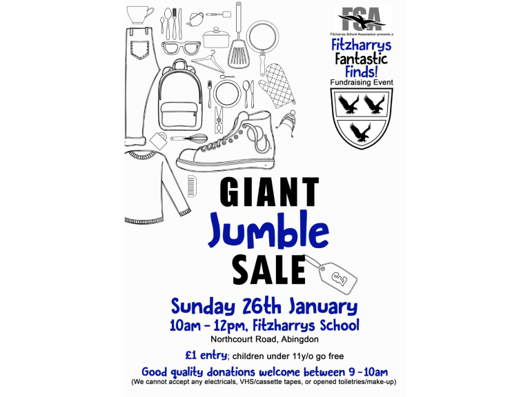 Fitzharrys Giant Jumble Sale
