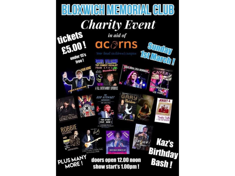 Acorns Charity Event at Bloxwich Memorial Club
