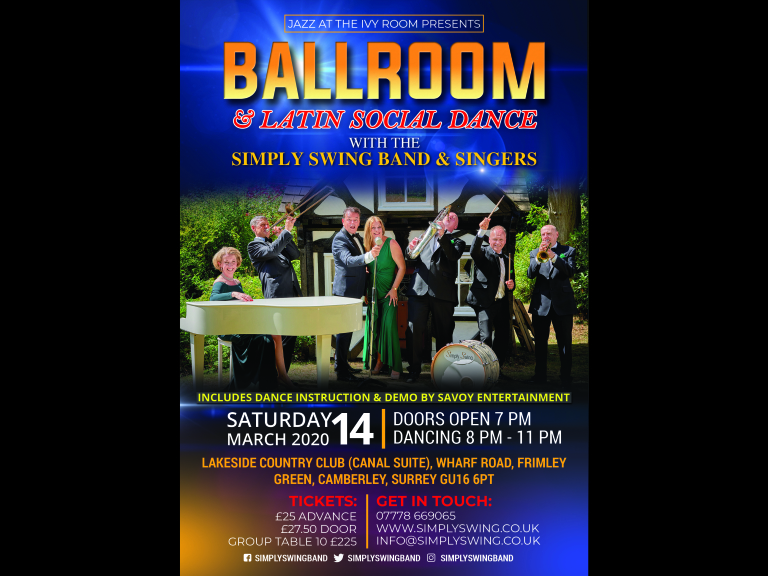BALLROOM & LATIN SOCIAL DANCE WITH LIVE BAND