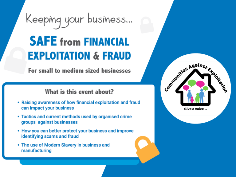 Communities Against Exploitation: Keeping your business safe from Financial Exploitation & Fraud *FREE EVENT*