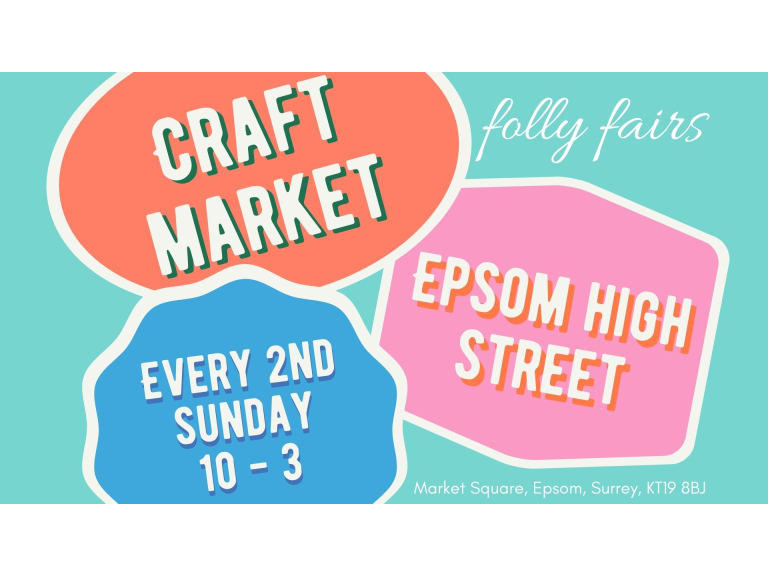 Epsom Craft and Gift Market with @FollyFairs in #Epsom #CraftMarket