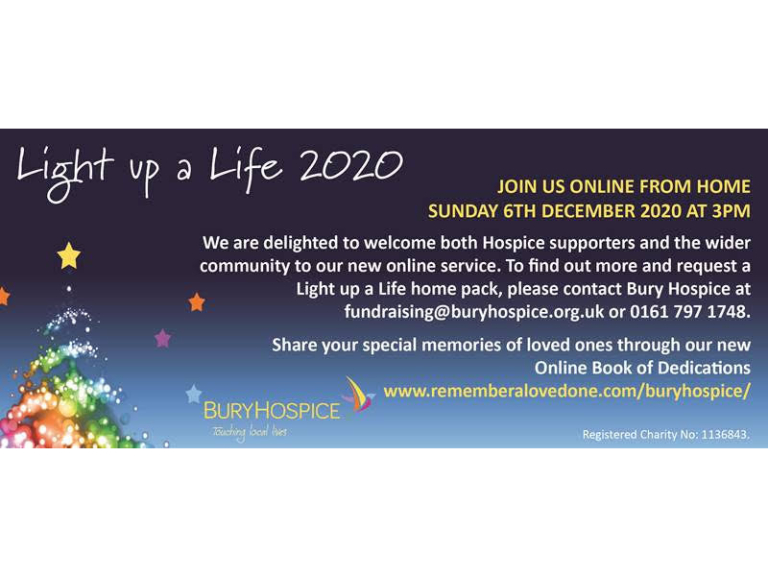 Bury Hospice - Light up a Life 2020