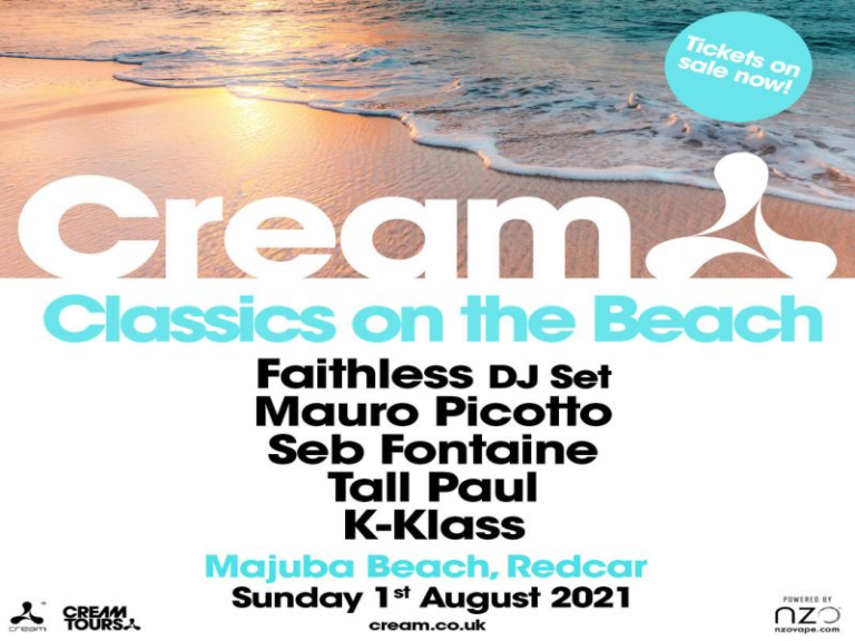 Cream Classics on the Beach