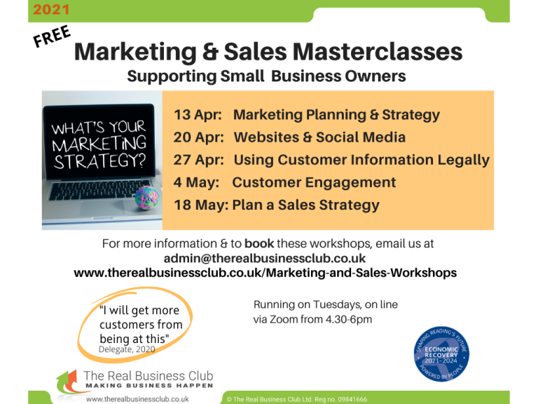 FREE & Online: Marketing & sales masterclasses: Using Customer Information Legally