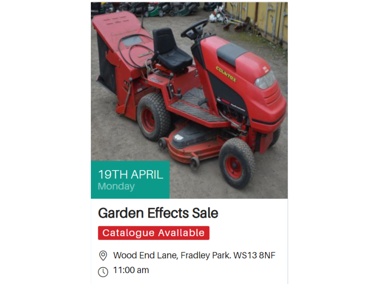 Garden Effects Sale - Richard Winterton Auctioneers