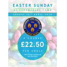 Easter Sunday at Shrewsbury Town Football Club