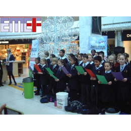 Carol Singing in aid of #Epsom Medical Equipment Fund at The Ashley Centre @epsom_sthelier #emef @ashley_centre