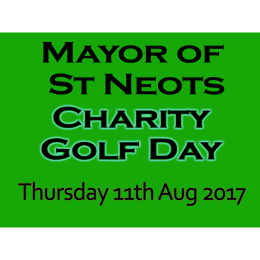 St Neots Mayor -  Charity Golf Day 2017
