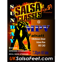 Walsall salsa classes on Sunday