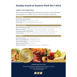 Enmore Park Sunday Lunches