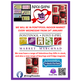 Nics Gifts at Pontypool Indoor Market