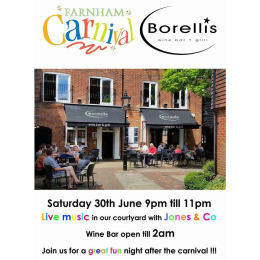 Live Music at Borellis from Jones and Co