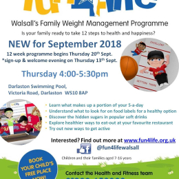 Fun4Life - Walsall's Family Weight Management Programme at Darlaston Swimming Pool. Thursdays