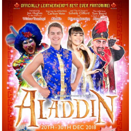 It's ALADDIN #ChristmasPanto at #Leatherhead Theatre  @LHDTheatre