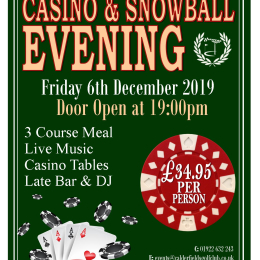 Snowball and Casino Evening at Calderfields Golf and Country Club