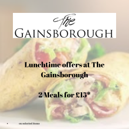 Lunchtime Offers at The Gainsborough