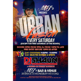 Urban Fusion every Saturday at MJ's Bar & Venue
