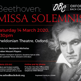 Oxford Bach Choir - Beethoven's Missa Solemnis